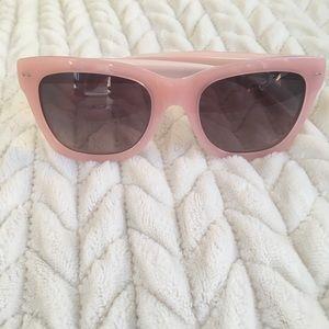 Banana Republic Peach Pink Dusty Rose Sunglasses